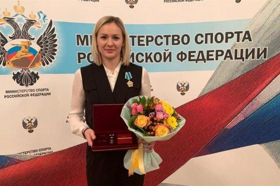 Анна Седойкина с орденом Дружбы