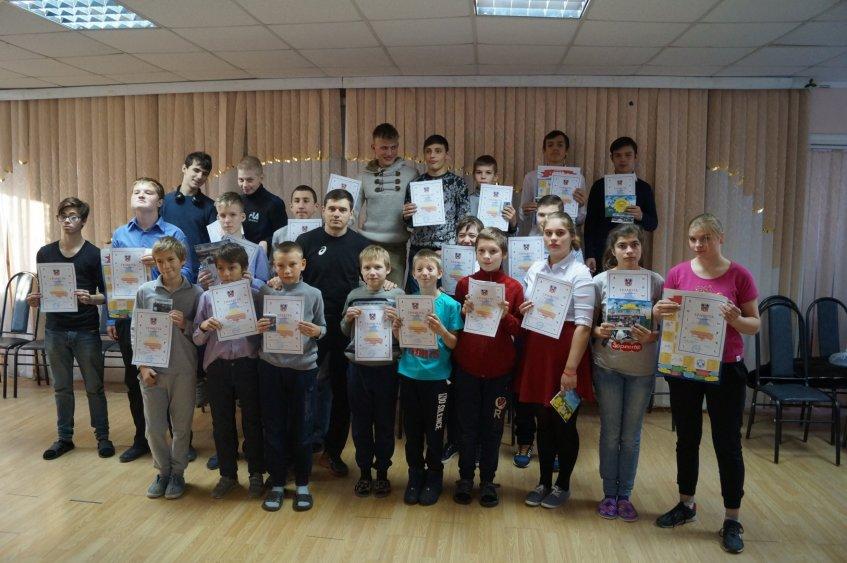 Участники мастер-класса в школе-интернате № 41