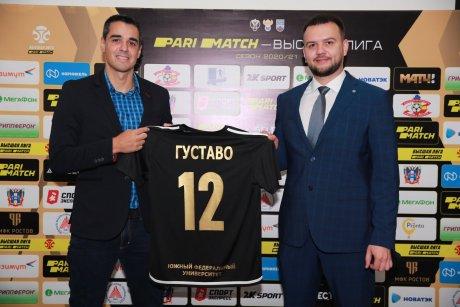 Президент МФК «Ростов» Евгений Лузанов (справа) и новый главный тренер команды Густаво