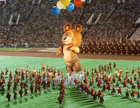 Знаменитый олимпийский Мишка в «Лужниках»