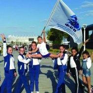 Юные синхронистки на фоне «Ростов-Арены»