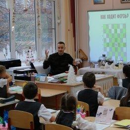 Дмитрий Гельбург проводит мастер-класс для лицеистовч