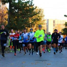 Участники забега на дистанции
